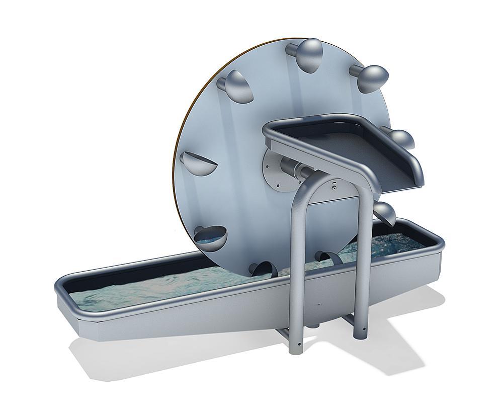 Waterwheel with basin