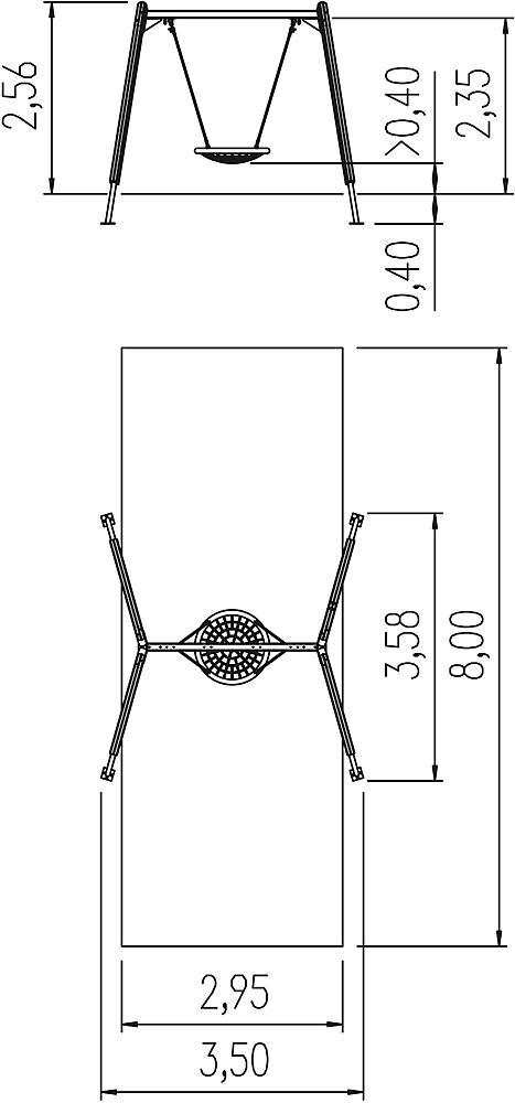 swing Kondor with nest seat Ø 100