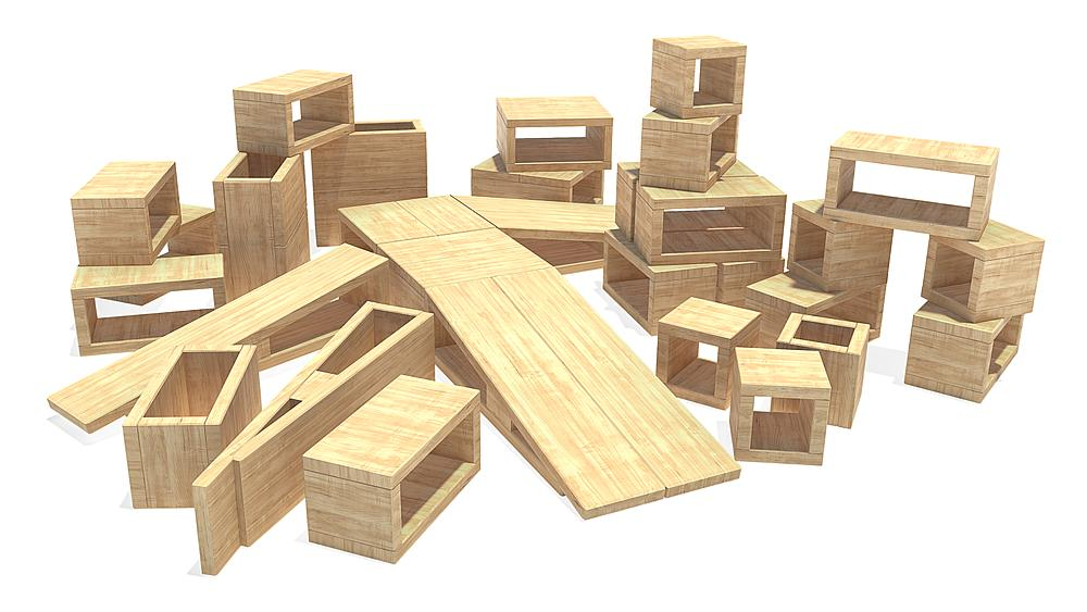 hollow block construction kit