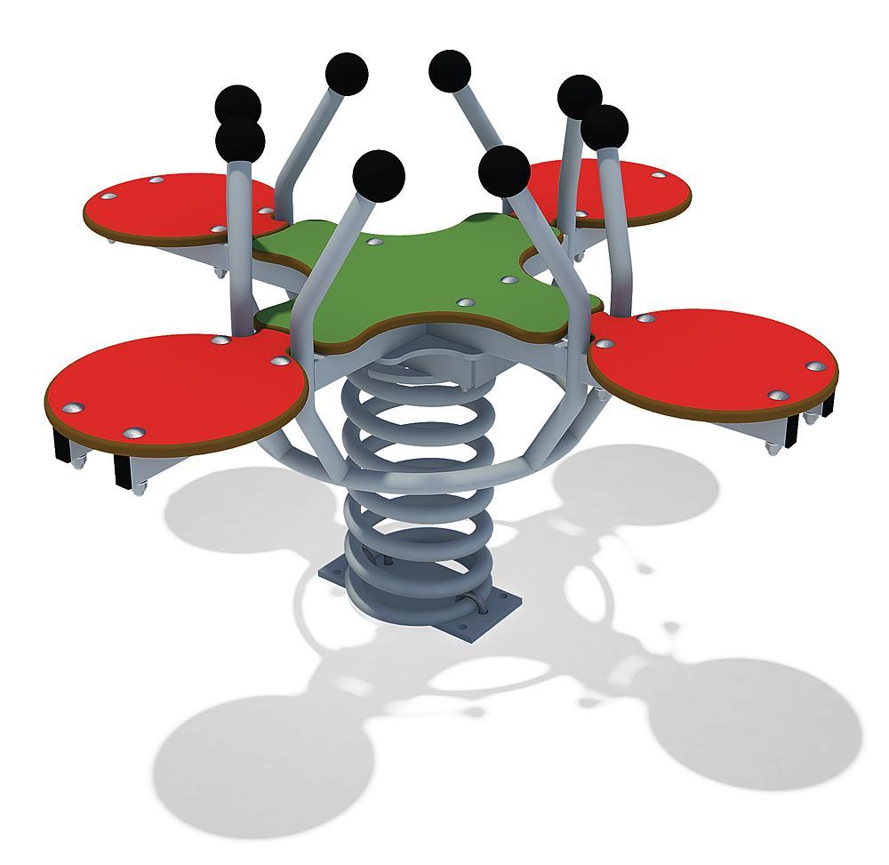 Four-seater spring rocker Beetle Quartet