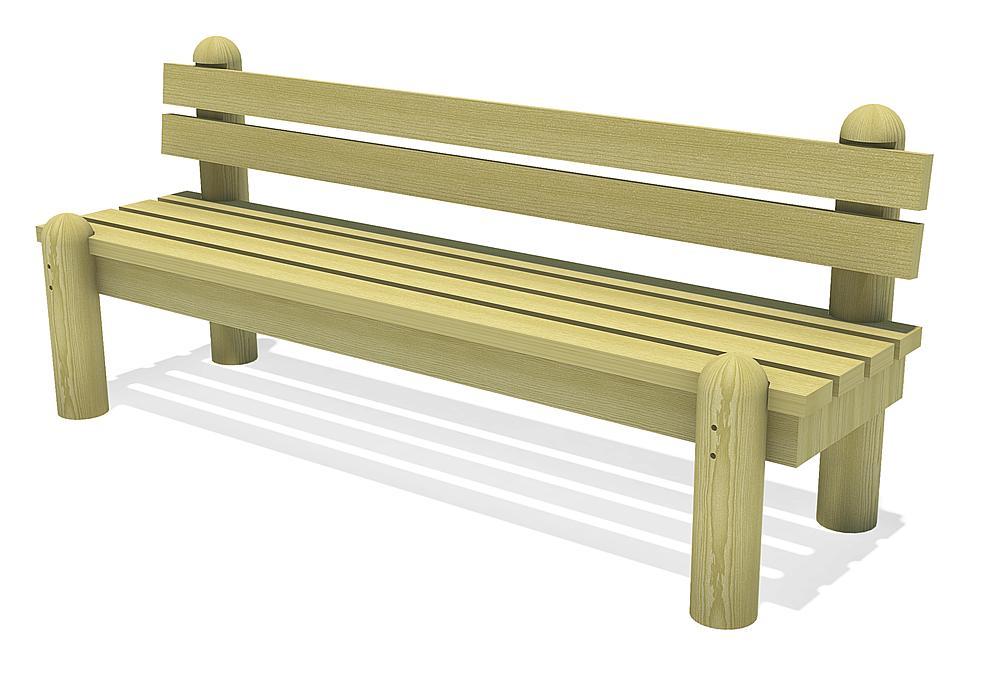 eibini bench with backrest