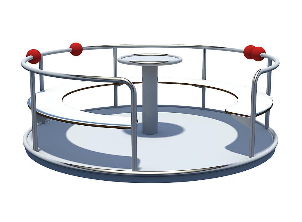 Roundabout with seats Jupiter Ø 200 cm