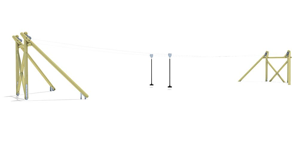 aerial cableway Montana Duo 20 m for hill installation