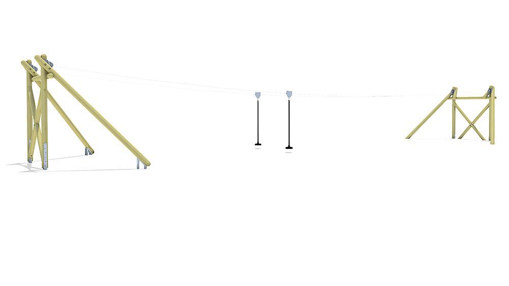 Tyrolienne Montana Duo 20 m pour construction de butte