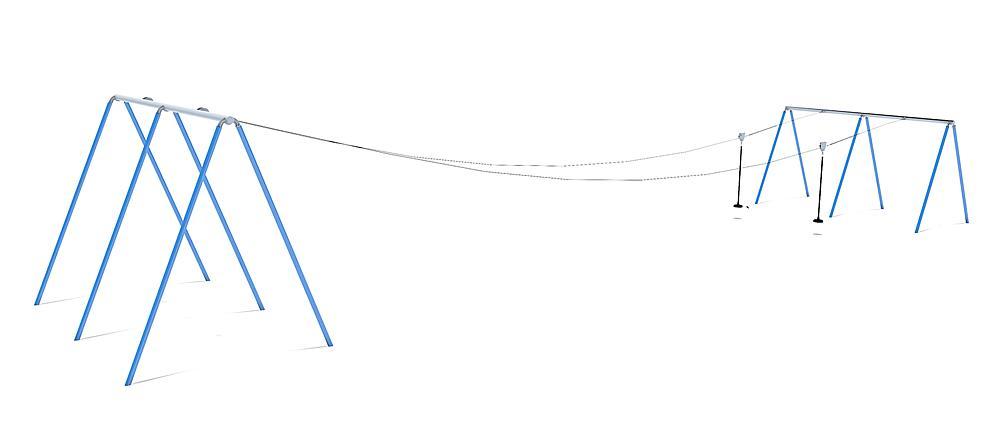 Tyrolienne double Fjall 20 m