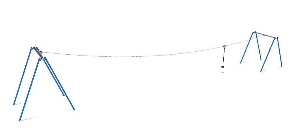 Tyrolienne 50 m pour construction de butte