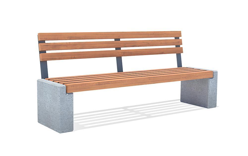 Bench with backrest Lamium