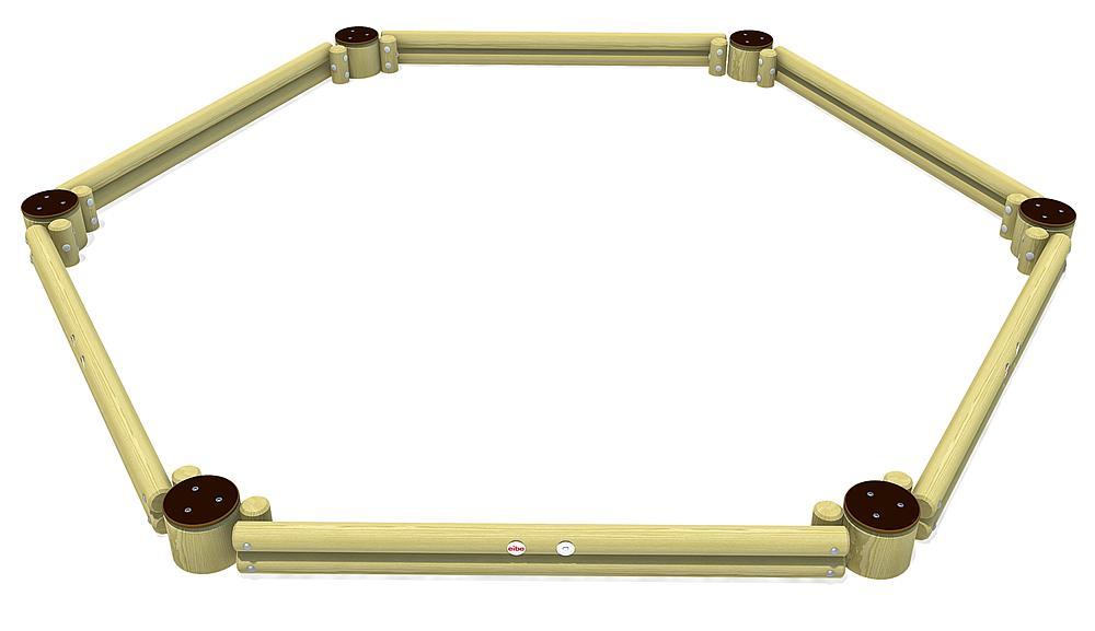Palisade sandpit, hexagon
