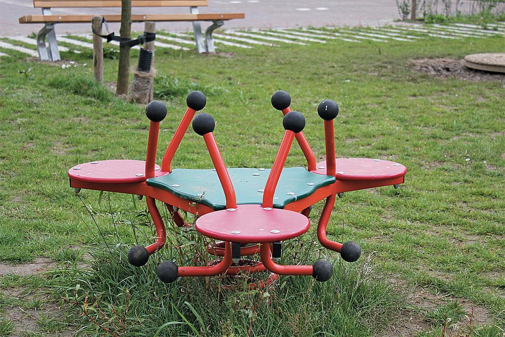 Three-seater spring rocker Beetle Ride