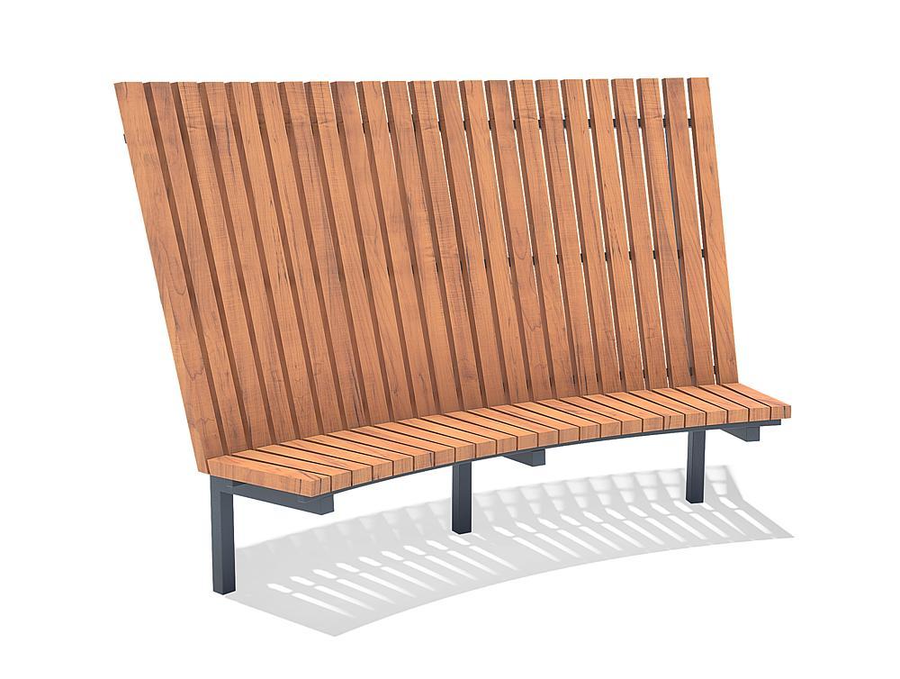 Bench with backrest Dahlia