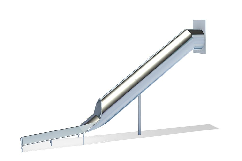 Tubular slide straight, stainless steel, ph 295 cm