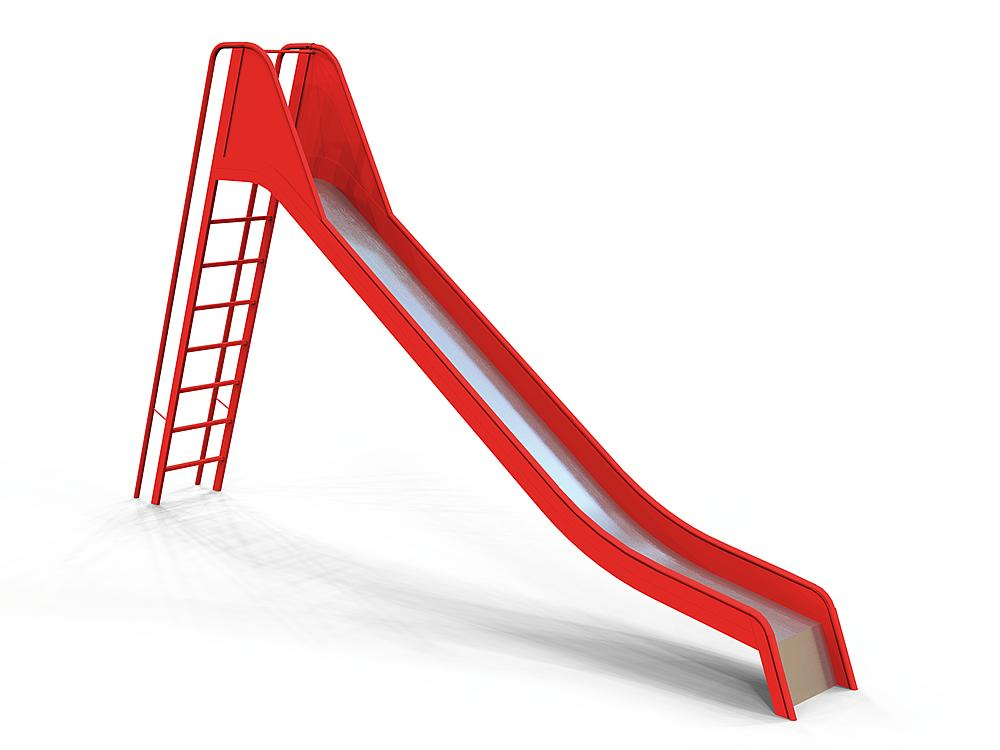 Slide with ladder steel, ph 200 cm