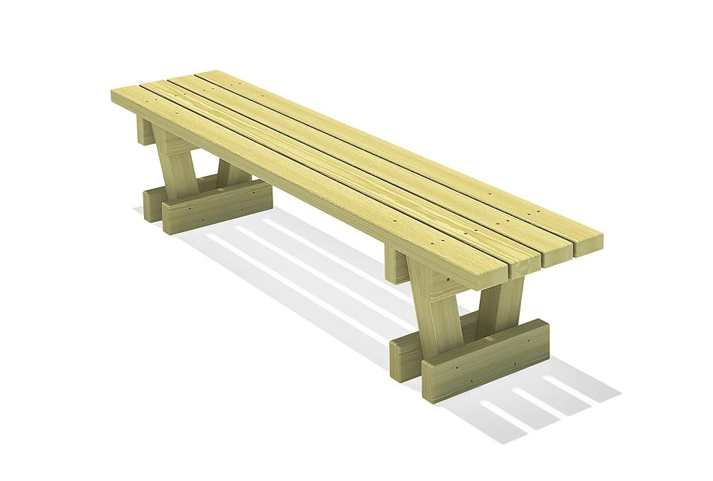 Square timber bench Spessart 200