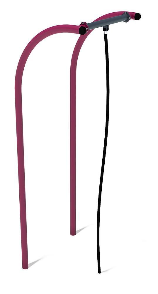 Calisthenics corde à grimper acier, acier inoxydable, PP anthracite, violet