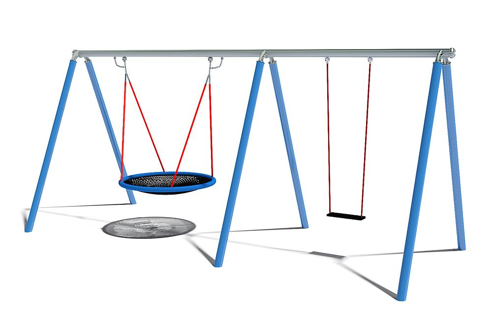 swing Luna with nest seat 120, single swing