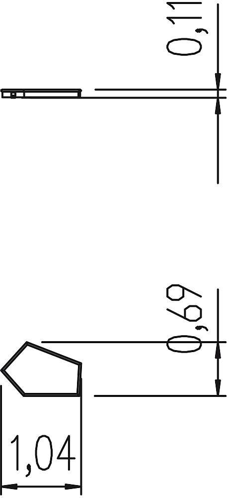 Valve basin pentagonal 1 valve
