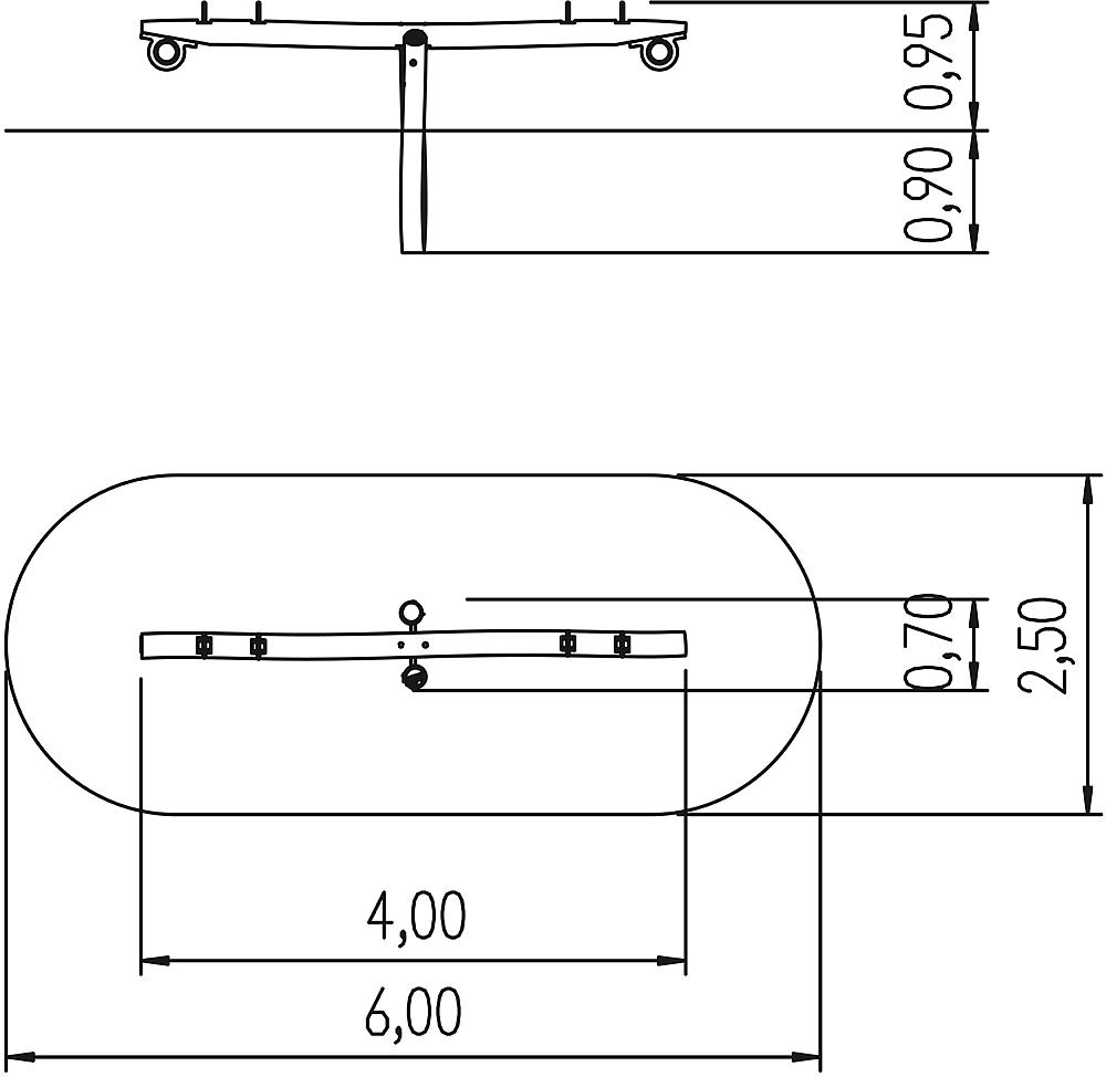 beam seesaw Golpio, four-seater
