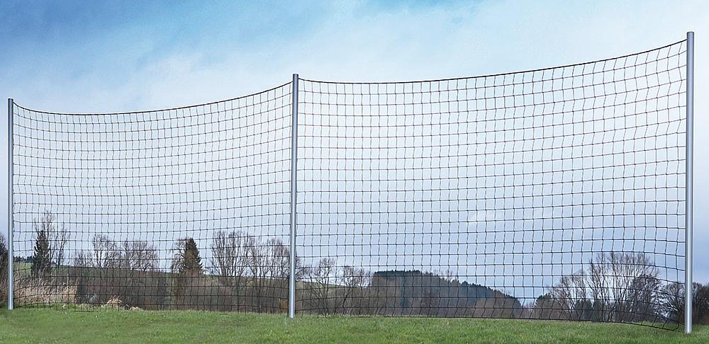 Post vertical, light metal, for ball fence