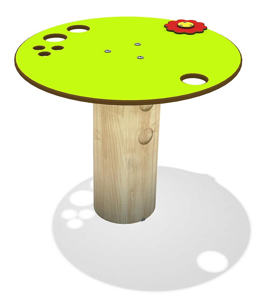mud table Erlan, with post