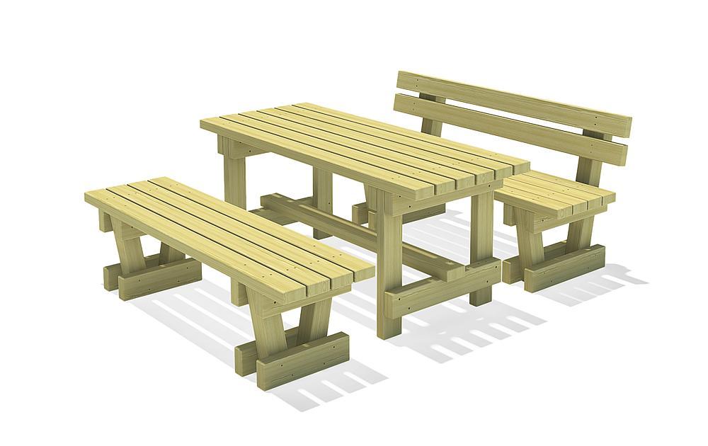 Ensemble de sièges et Table Spessart 150