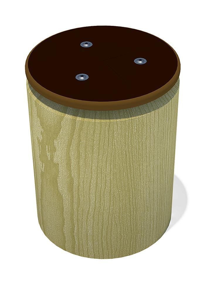 Bollard seat for palisade sandpits