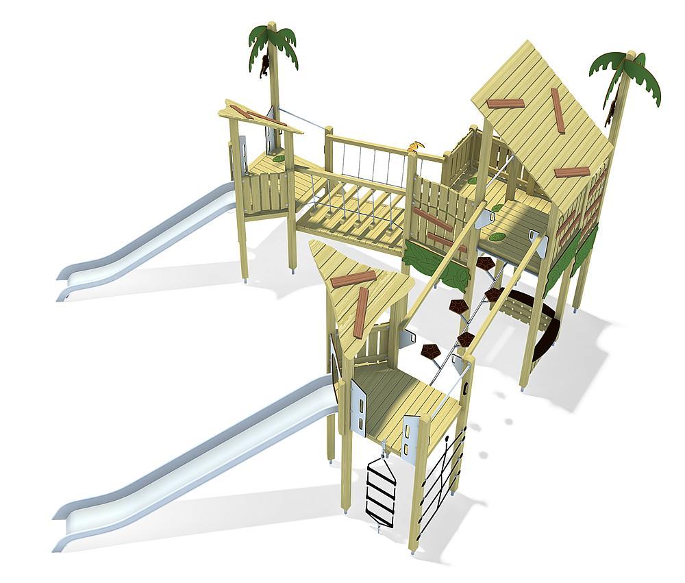 Structure de jungle Guyane, solo