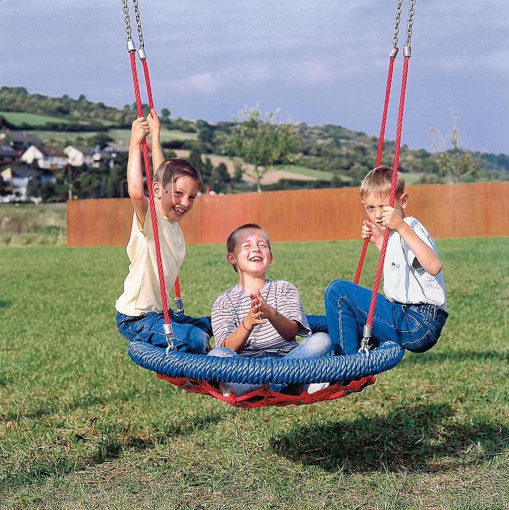 Nest seat, steel cable net mesh Ø 100 cm
