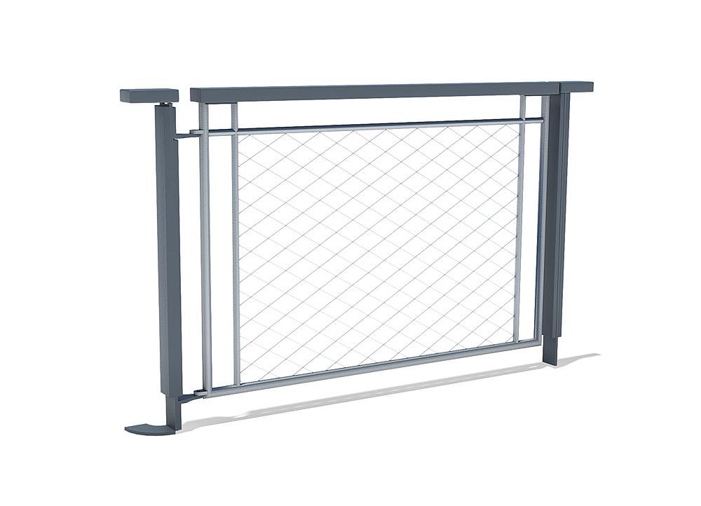Door for mesh fence