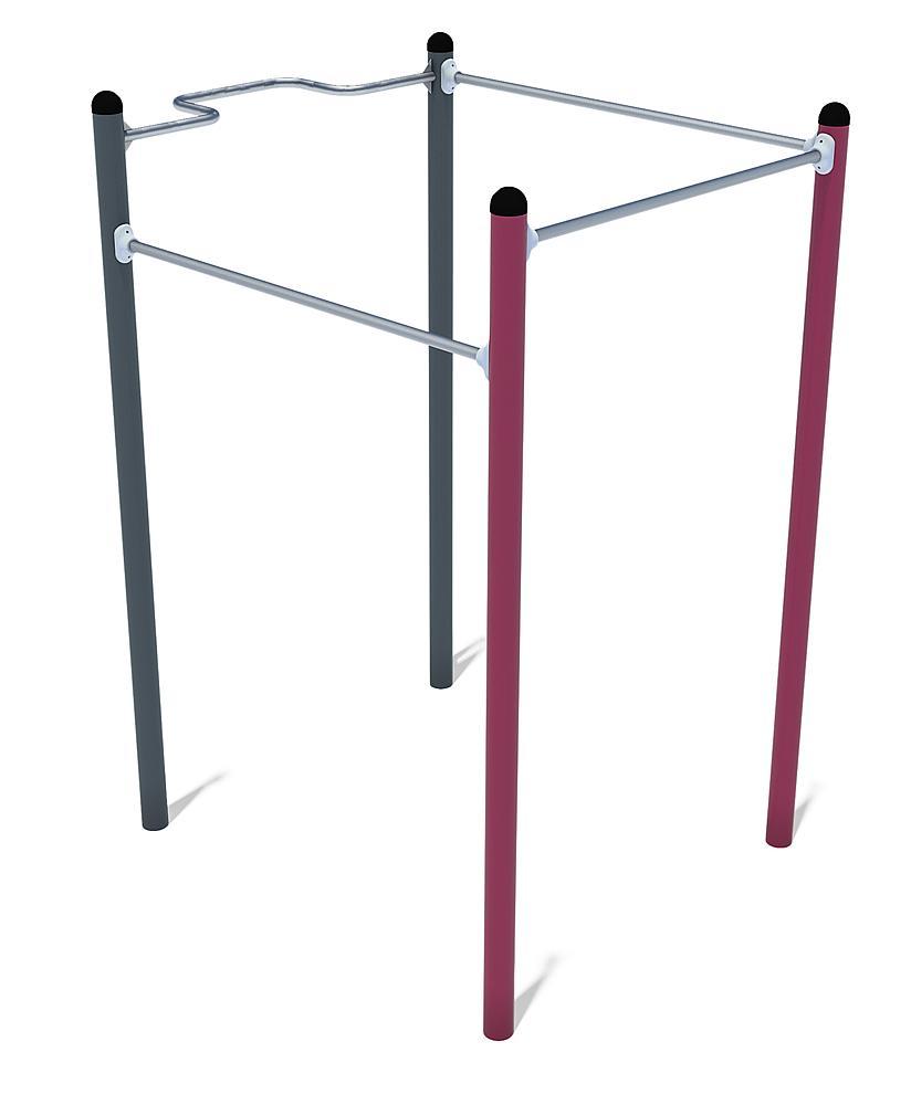 Équipement de Calisthenics Mini 01 acier, acier inoxydable anthracite-violet