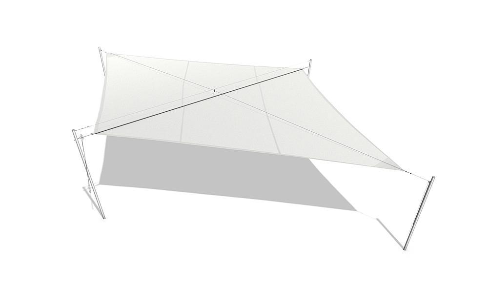 Awning square 4x4 m