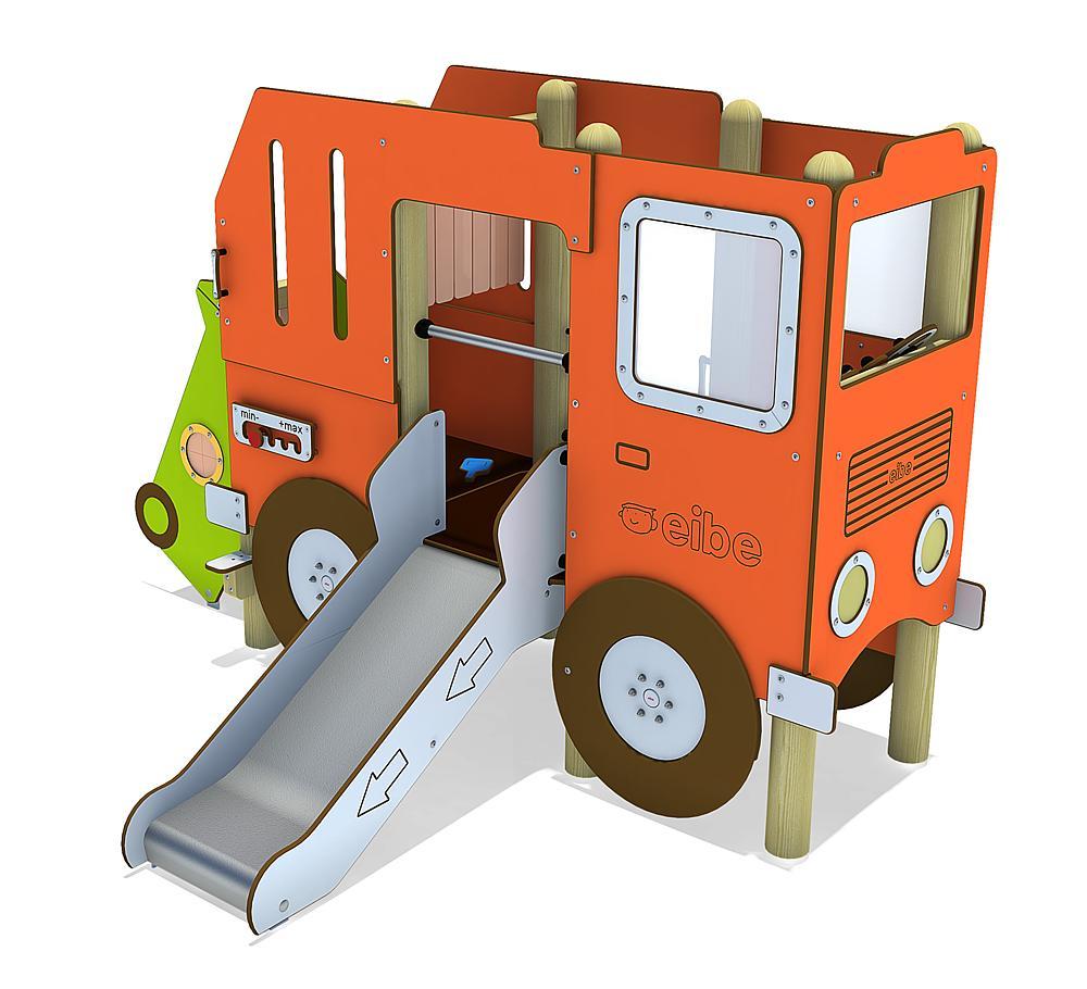 Structure ludique Camion poubelle