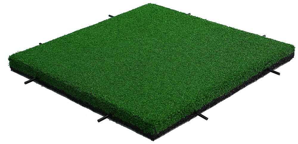 Impact attenuation tile with astroturf