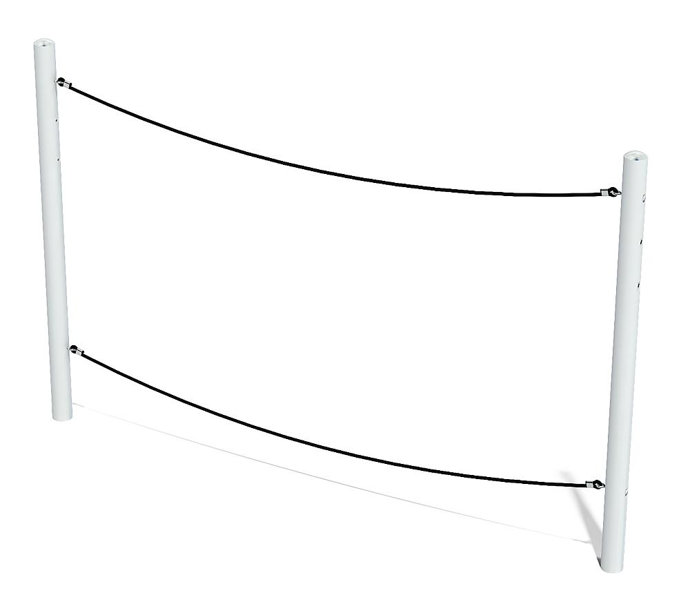 balance Waltz balancing rope with metal posts