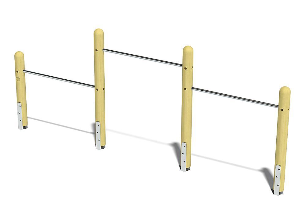 three-level horizontal bars