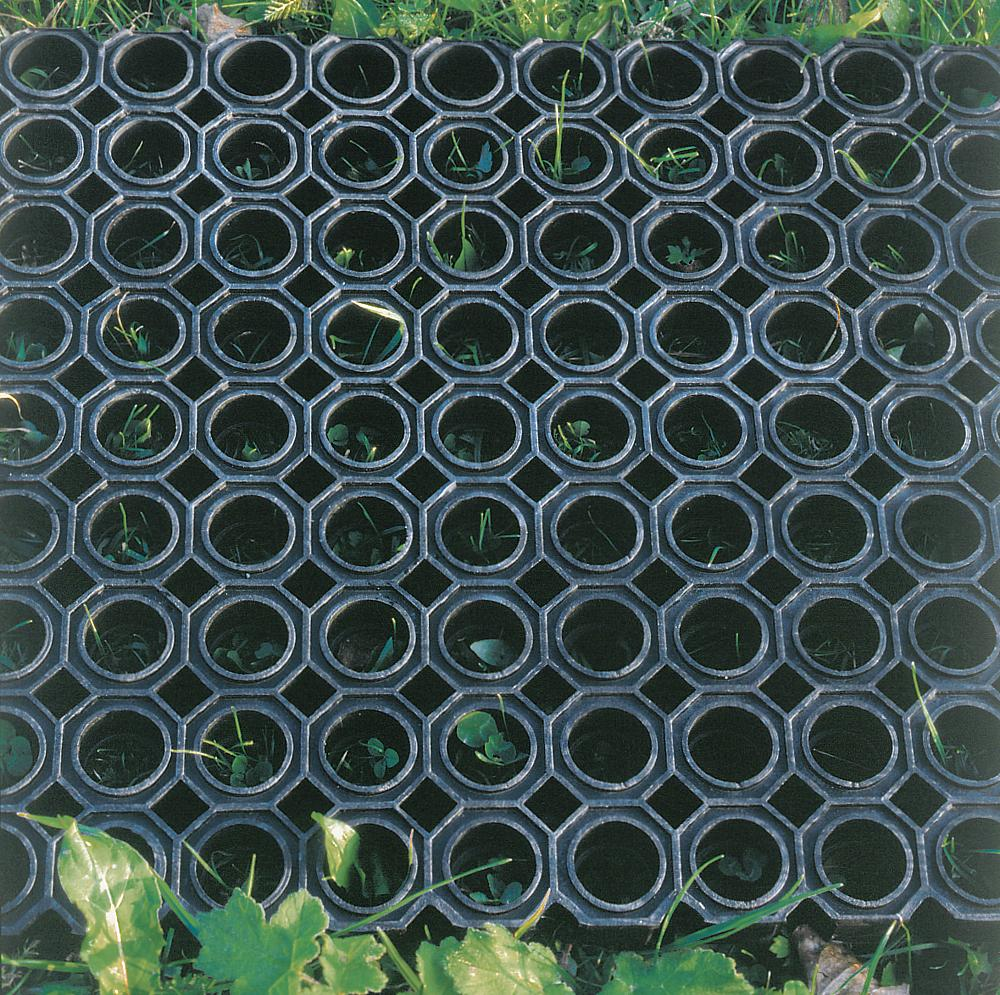 Perforated rubber matting